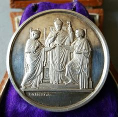 Antique Engraved Silver French Marriage Medal Art Nouveau Love Token Wedding Gift Bridal Gift EM ME  August 4, 1877 Free Shipping by PinyolBoiVintage on Etsy