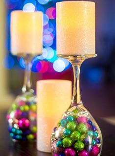 Şarap Bardağı İle Dekoratif Mumluk Yapımı