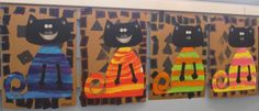 Splat Le chat - Animaux - Galerie - Forums-enseignants-du-primaire Cat Crafts, Crafts For Kids, Splat Le Chat, Kindergarten Projects, Summer Kids, Art Plastique, I Love Cats, Cat Art, Art Education