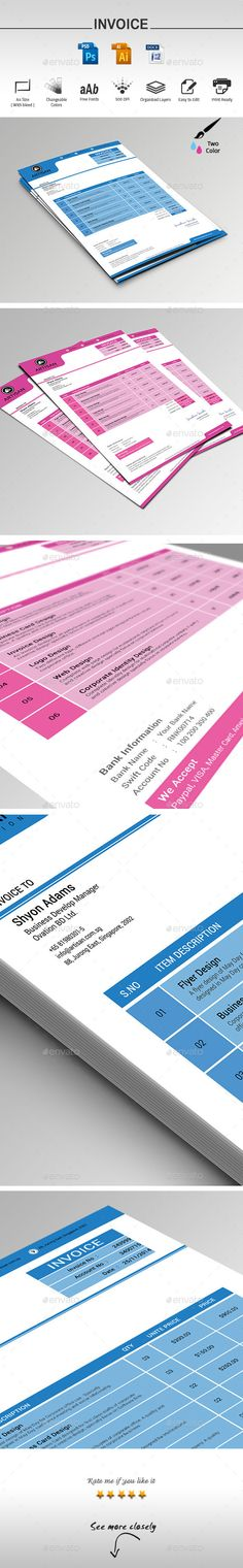 Such a cute invoice template! FREE psd, about to make a form PDF - hvac invoice templates
