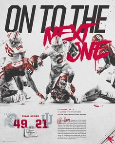 Sports Graphic Design, Graphic Design Posters, Graphic Design Typography, Graphic Design Inspiration, Logo Design, Sport Design, Typography Layout, Ohio State Football, American Football