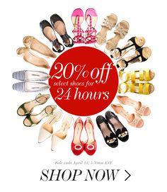 20% OFF SHOES for 24 HOURS • Christian Louboutin, Chanel, Manolo Blahnik, Jummy Choo, Stella McCartney, Miu Miu, Valentino... The list goes on and on!