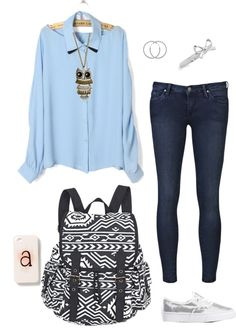 """""""(OOTD) School Day"""" by aannf ❤ liked on Polyvore"""
