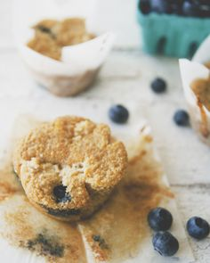 Paleo Blueberry Muffins with Streusel Topping \ Sweet Laurel