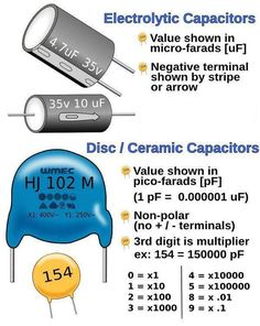 Electrical and Electronics Engineering: Disc and Electrolytic Capacitor - Ham Radio & Electronics Electrical and Electronics Engineering: Disc and Electrolytic Capacitor - Electronics Projects, Electronics Components, Electronics Gadgets, Simple Electronics, Electronic Schematics, Electronic Parts, Electronic Engineering, Electrical Engineering, Chemical Engineering