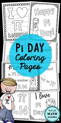 Set of 10 coloring pages created to enhance your Pi Day celebration! Includes pages appropriate for use with upper elementary students, middle school students, and high school students. Middle School Classroom, Middle School Science, Science Classroom, School Fun, High School, School Stuff, School Ideas, Classroom Ideas, Measurement Activities