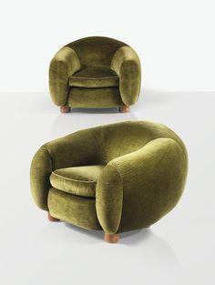 fauteuils boule ours polaire jean royère 1948