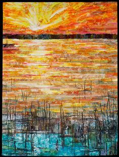 free motion quilting sunset sky - Google Search