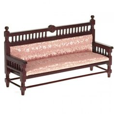 Decorative Sofa in Mahogany. Upholstery has been stained