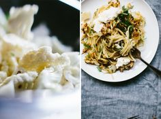 Roasted Cauliflower Linguine with Ricotta and Dill - Not Without Salt