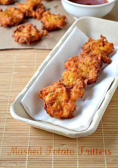 Spicy Treats: Mashed Potato Fritters ~ Vegan N Gluten Free !!