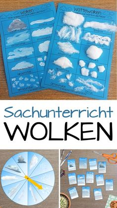 Wolken Sachunterricht - NaWi - Material collection - Teaching material in the subjects Sachunterricht - Material collection for the subject teaching in the elementary school on the topic of clouds. Montessori Materials, Montessori Activities, Teaching Materials, Activities For Kids, Human Body Activities, Elementary Education, Science Education, Kids Education, Primary Education