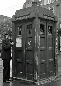 Hammersmith Police Box - Before Doctor Who was even a glimmer in its creators eye! Circa is it really Dr who?
