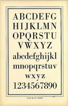 Type Charts 12 Bodoni front | by Dunwich Type