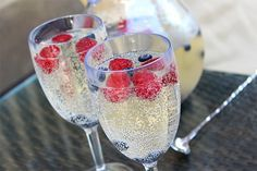 Berry wine spritizer from Vanilla extract 1 bottle Latah Creek Pinot Gris 1 liter Sprite or 7-up 1 pint fresh raspberries, for garnish 1 pint fresh blueberries, for garnish 3 oz. Grand Marnier This recipe is as simple as it gets. Put all ingredients into a large pitcher and gentle stir. Pour into glasses for serving or let guests pour for themselves. Bottoms up!
