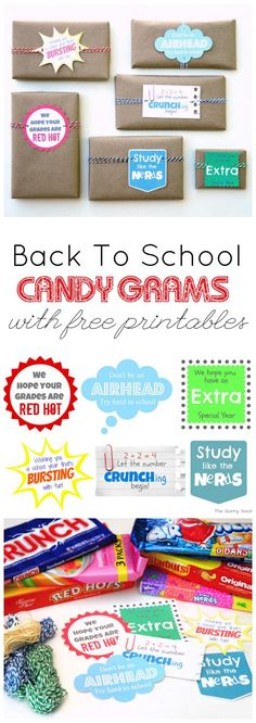 Use these candy grams all year as motivators for your students! Free printable included!