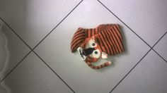 knitted tiger scarf