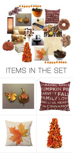 """""""Fall Decorating Ideas"""" by crystalglowdesign ❤ liked on Polyvore featuring art"""