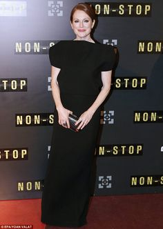 Julianne Moore wearing @balenciagaparis – 'Non Stop' Paris Premiere #2014