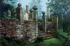 "James Christensen                                                                ""Garden Rendezvous"", 2002."