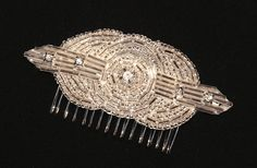 Art Deco Rhinestone Bridal Hair Comb, Great Gatsby Wedding Hairpiece Bridal Clip