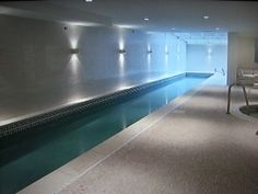 I would be so disciplined to take a swim every day if I had a lap pool like this one.