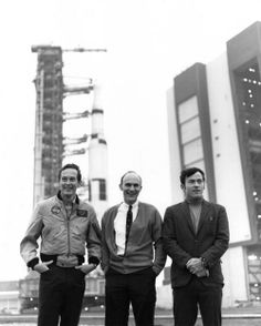 Astronauts Charlie Duke, Ken Mattingly and John Young - Apollo 16