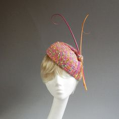 Handmade multicolour bouclé percer hat with by MarcusArtandFashion