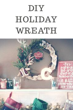 Make your own cute country holiday wreath