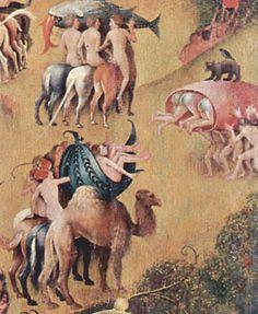 Der Garten der Lueste - Mitteltafel Der Garten der Lueste - Detail von Hieronymus Bosch