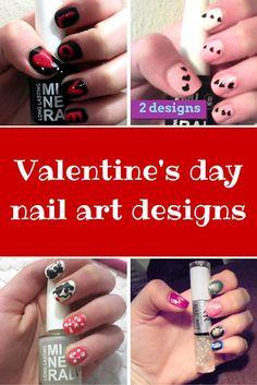 EASY Velentine's day nail art tutorials by Despinas Studio