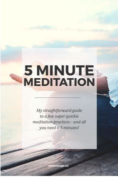 Think you don't have enough time to meditate? Think again! #meditation
