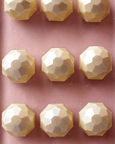 Gold chocolate truffles.