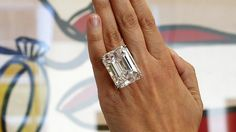 The 100-carat diamond on pre-auction show at Sotheby's in Los Angeles. 25 March 2015 - Reuters