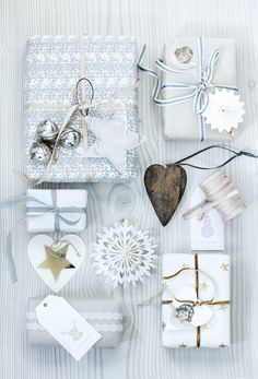 Silver Bells Christmas Gift Wrapping Inspiration