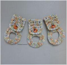 Kitchen Towel Holders  Crochet Towel Hangers by DebbieCrochets