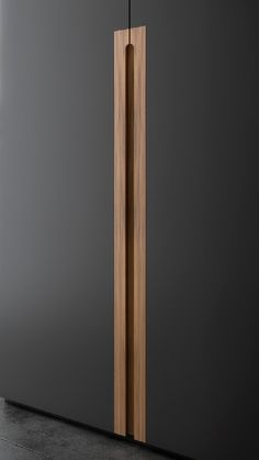 Wardrobe recessed timber hand pull