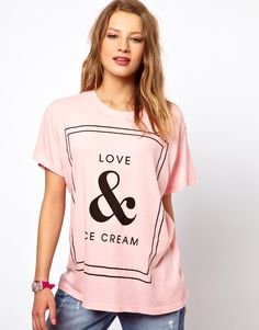 Love & Ice Cream T-Shirt... Idk what's with the girls face but the tshirt is pretty rad