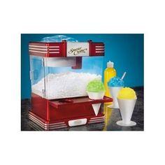 Sno Cone Maker Shaved Ice Machine Shaver Snow Ice Crusher Electric Retro Vintage #NostalgiaElectrics