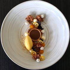 "- David Vidal ""Chocolate Tart, Passion Fruit and Coconut ''"