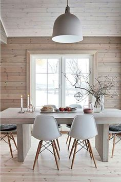 One of the most popular interior design for home is modern. The modern interior will make your home looks elegant and also amazing because of its natural material. If you want to design your home inte Decor, House Design, Dining Room Design, House Styles, House Interior, Interior Design Styles, Scandinavian Dining Room, Scandinavian Interior Design, Home Interior Design