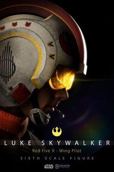 Luke Skywalker Red Five X-Wing Pilot Figure