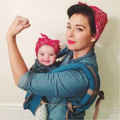 Get in the Halloween spirit with these costume ideas for babies!: Rosie the Baby Riveter