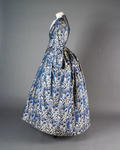 Dress (image 3) | British | 1855 | silk | National Trust; Springhill, Londonderry | Inventory #: 602618.1