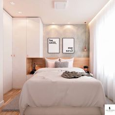 small bedroom design , small bedroom design ideas , minimalist bedroom design for small rooms , how to design a small bedroom Small Bedroom Designs, Small Room Design, Small Room Bedroom, Home Bedroom, Master Bedroom, Bedroom Decor, Bedroom Ideas, Small Bedrooms, Bed Room