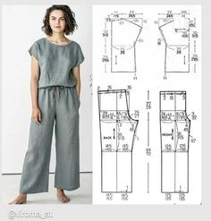 Skirt Patterns Sewing, Sewing Patterns Free, Clothing Patterns, Coat Patterns, Blouse Patterns, Fashion Sewing, Diy Fashion, Sewing Blouses, Sewing Pants