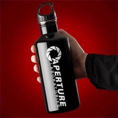 Aperture Stainless Steel Water Bottle, Portal 2