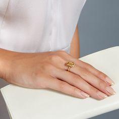 Citrine Prismic Ring