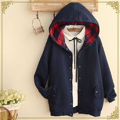 Fashion hooded coat jacket