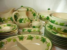 "Franciscan ""Ivy"" Dinnerware.  Also called the I Love Lucy Pattern......it was her personal pattern an seen on the TV show"